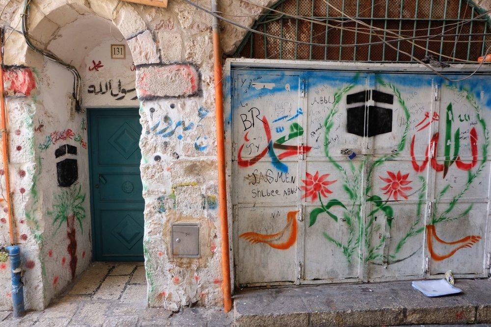 Jerusalem old city | Muslim aera | muslim street art | photo sandrine cohen