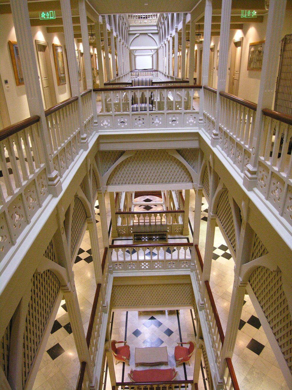 Taj Mahal Hotel Mumbai | Old part in wood and marble | Taj group | ©sandrine cohen