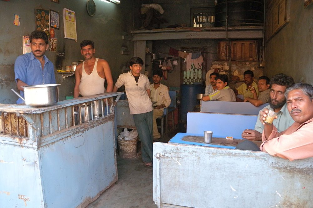 Dharavi | Mumbai - Bombay | India | Dharavi, the biggest slum of Asia | Chai Cafe in Dharavi |  |©sandrine cohen