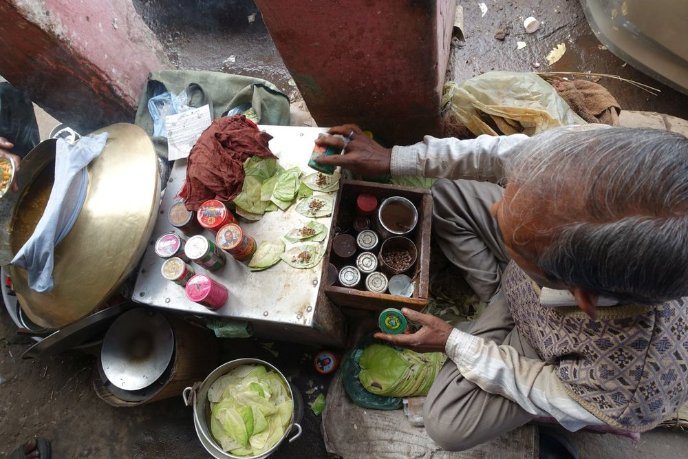 Delhi | street food | Bettel seller | ©sandrine cohen