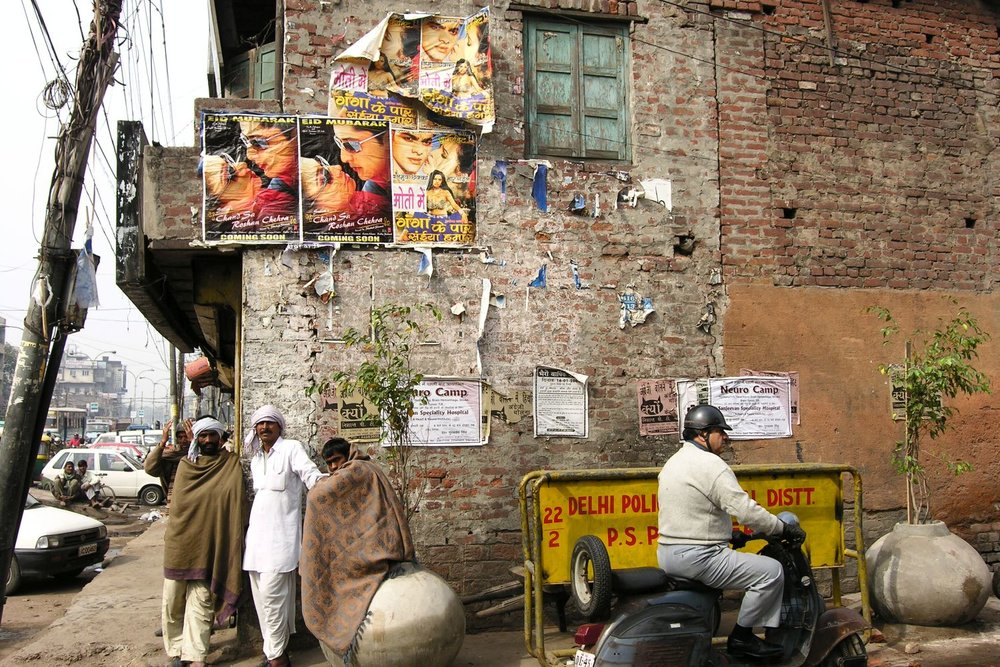 Old Delhi | Bollywood poster | street photography ©sandrine cohen