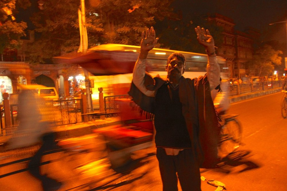 Jaipur | Pink city | Rajasthan | Man in the traffic at night | ©sandrine cohen