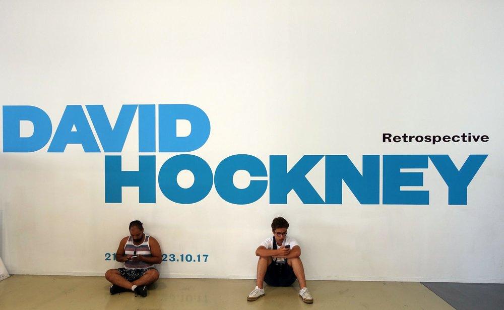 David Hockney retrospective | Centre Pompidou Paris | ©sandrine cohen
