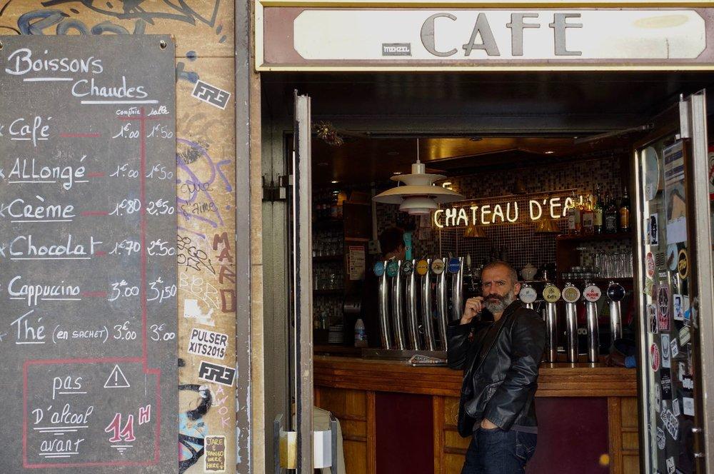 Paris | Café rue du Faubourg Saint-Denis | Enjoying a café in a café | photo sandrine cohen