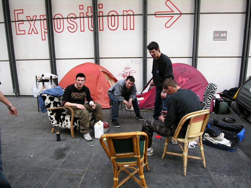Paris | Tentes pour SDF au Centre Pompidou | Photo sandrine cohen