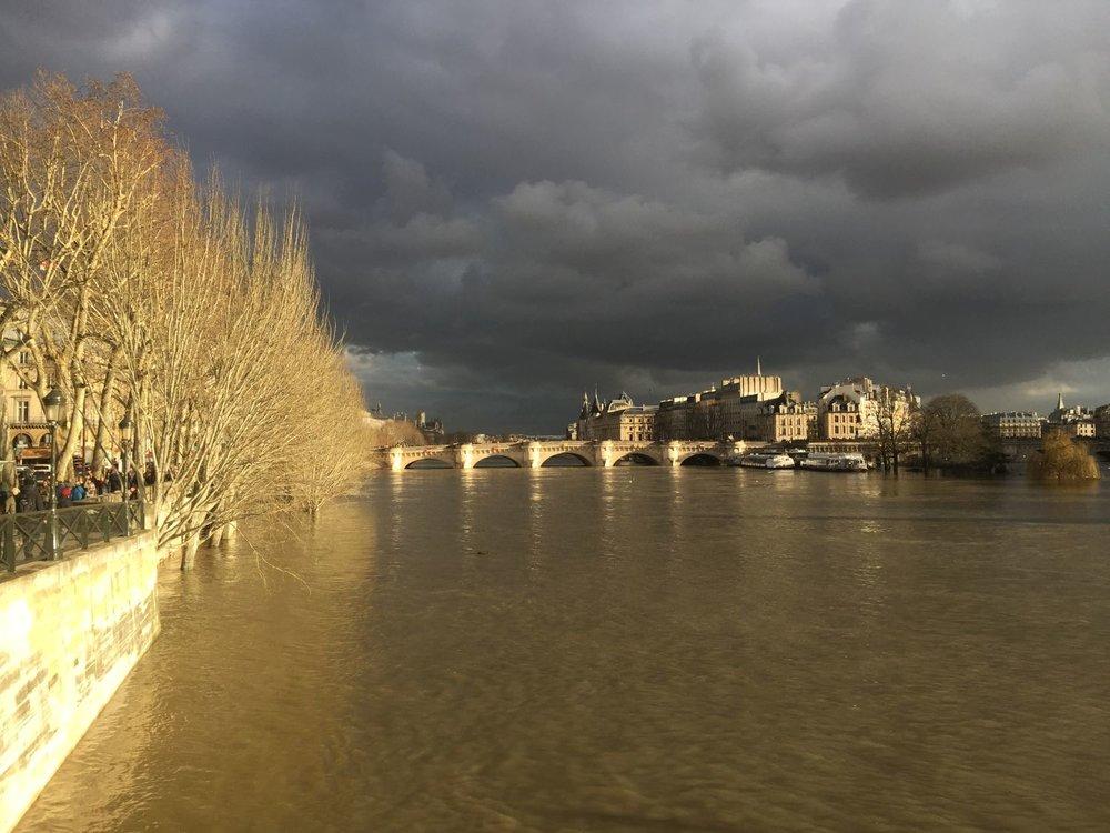 Paris |  La crue de la Seine début 2018 | Photo sandrine cohen