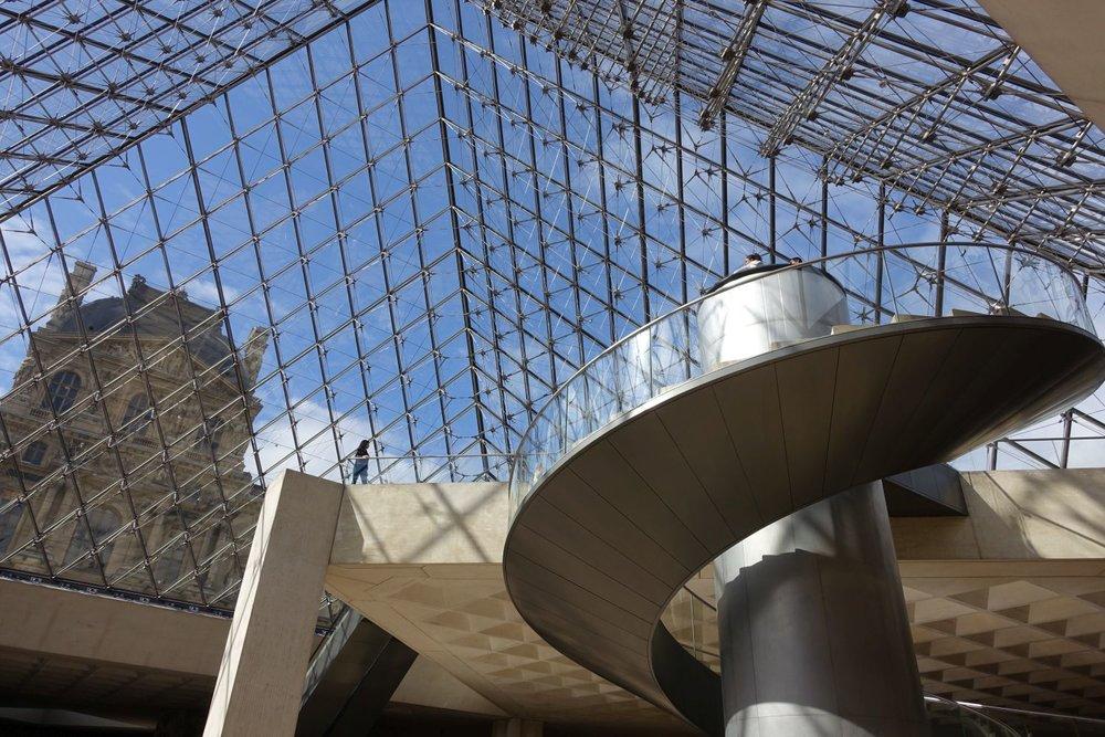Pyramide du Louvre | Indise Pyramide of the Louvre | Paris | photo sandrine cohen