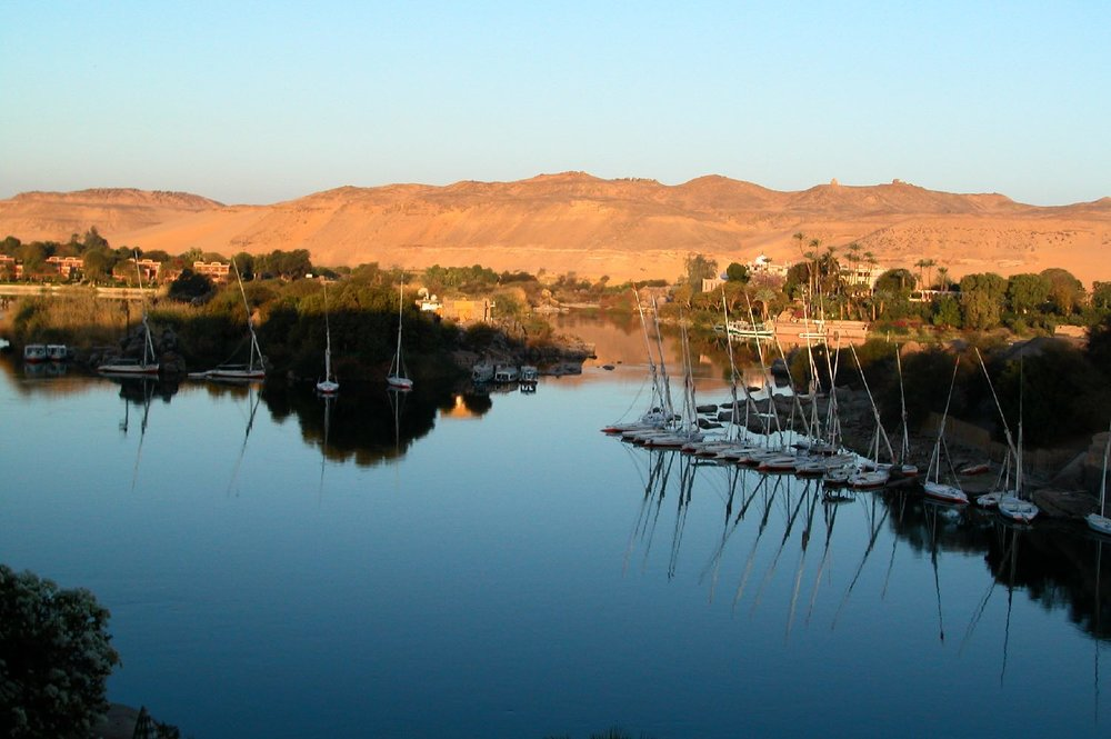 Aswan |Sunset on the Nile |Elephantine Isle |©sandrine cohen