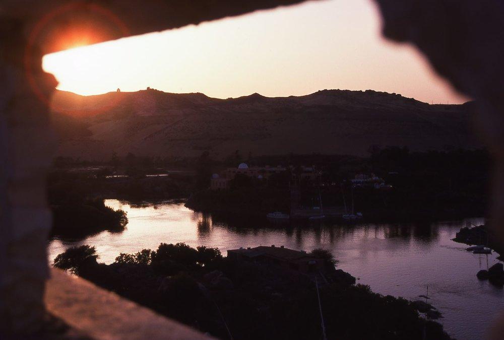 Aswan  Sunrise on the Nile  ©sandrine cohen