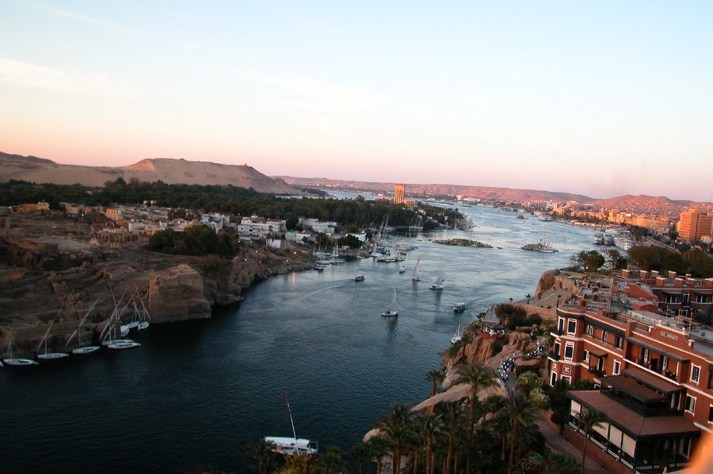 Aswan  Old Cataract Hotel  The Nile  Elephantine Isle  Sunrise  ©sandrine cohen