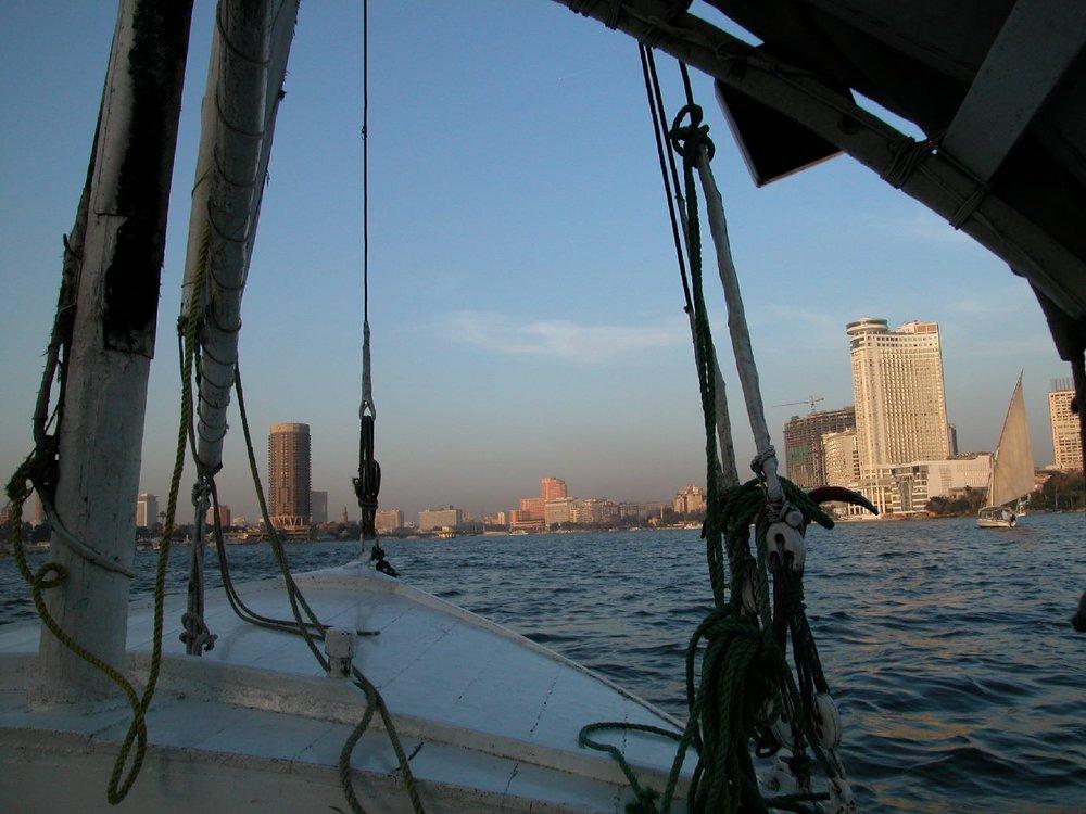 Cairo  Egypt  Felucca on the Nile  The Nile  ©sandrine cohen