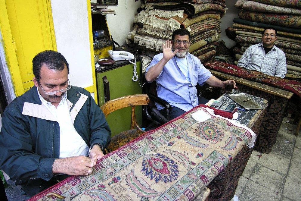 Cairo   Oriental carpet   Carpet restoration workshop   Zamalek aera