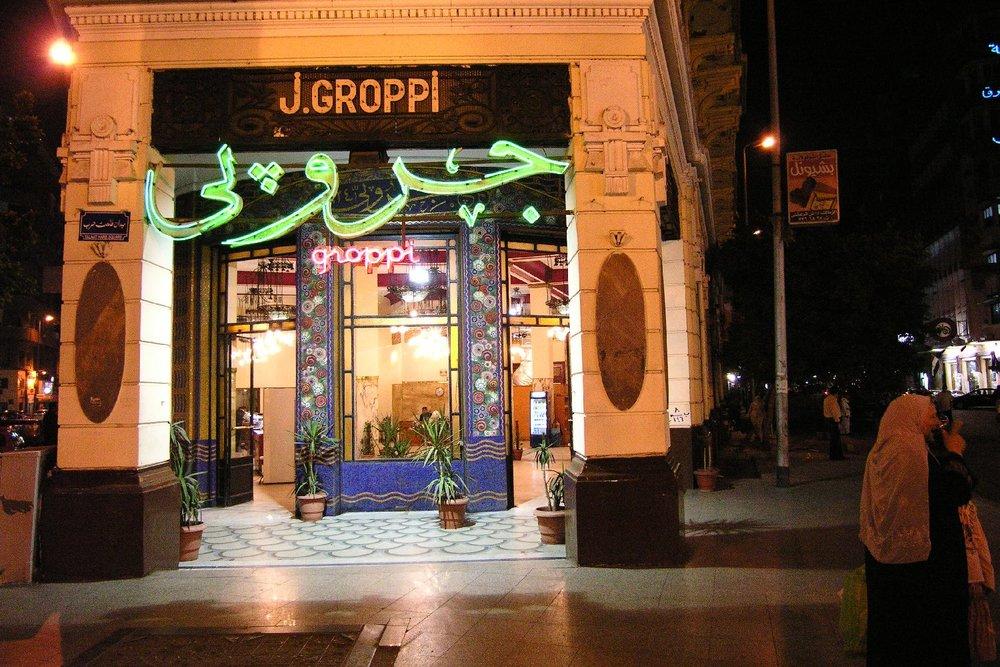 Cairo  Egypt  Shop  Groppi  Egyptian sweets  streetphotography  ©sandrine cohen