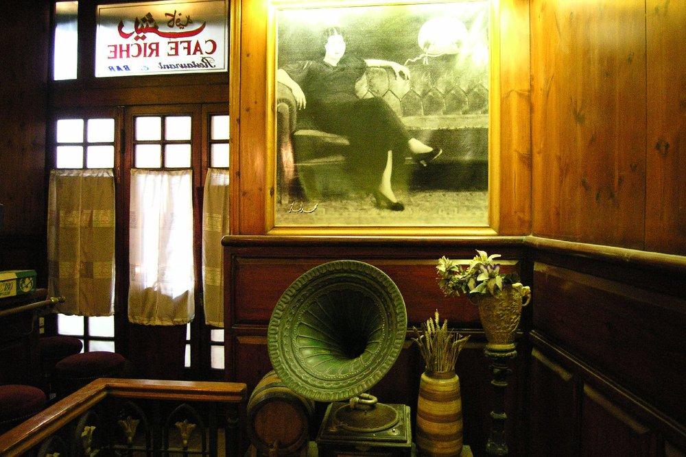 Cairo  Egypt  Cafe Riche  Oum Kalsoum  sandrine cohen