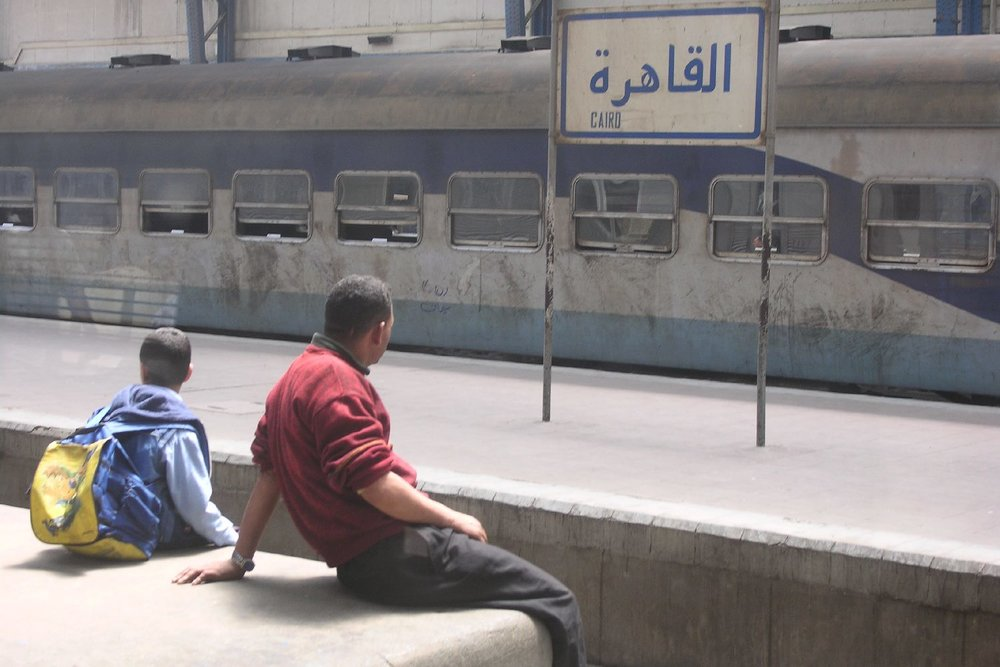Cairo  Egypt  Railway station Ramses  streetphotography  Father and son  ©sandrine cohen