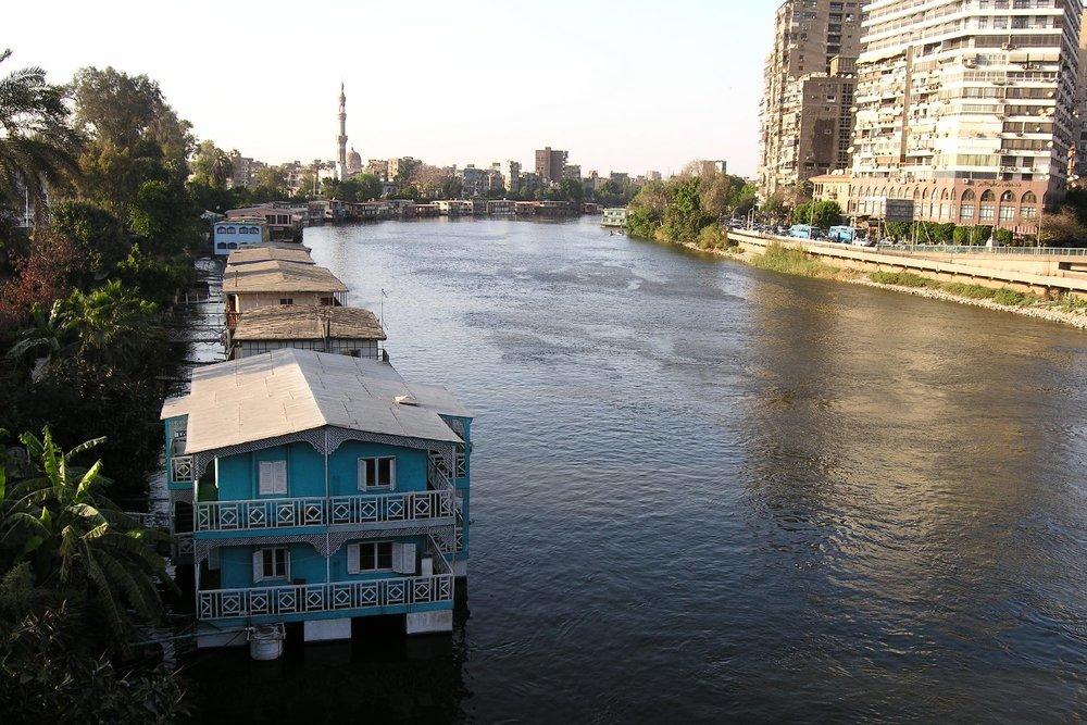 Cairo  Houses on the Nile  Zamalek  The Nile  ©sandrine cohen