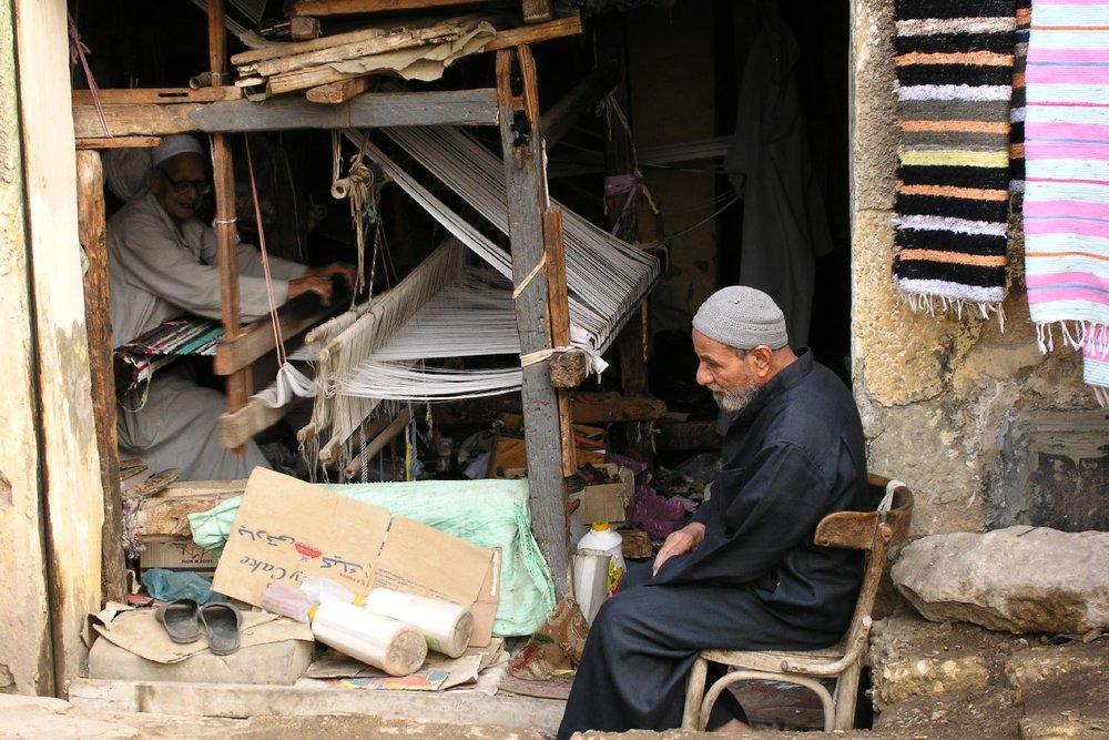 Cairo   Copte aera   Man makes carpets   Loom carpets   Egypt   ©sandrine cohen