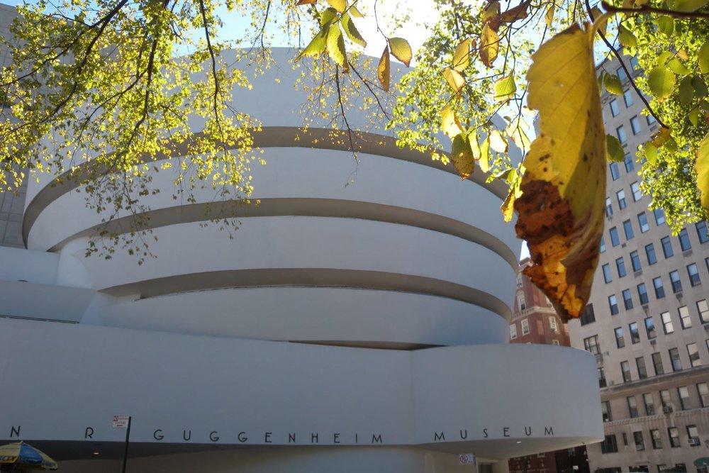 Solomo R. Guggenheim Museum | Frank Lloyd Wright architect designer | New York at autumn | ©sandrine cohen