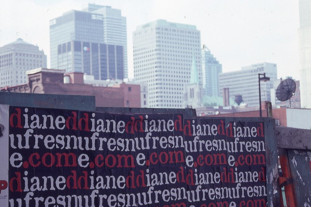 Montreal | Diane Dufresne poster | photo sandrine cohen
