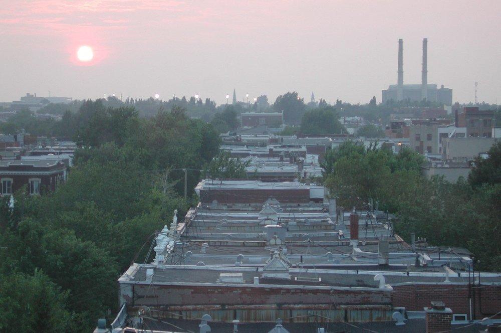 Montreal | Sunrise on Rachel street | Plateau Mont-Royal | photo sandrine cohen
