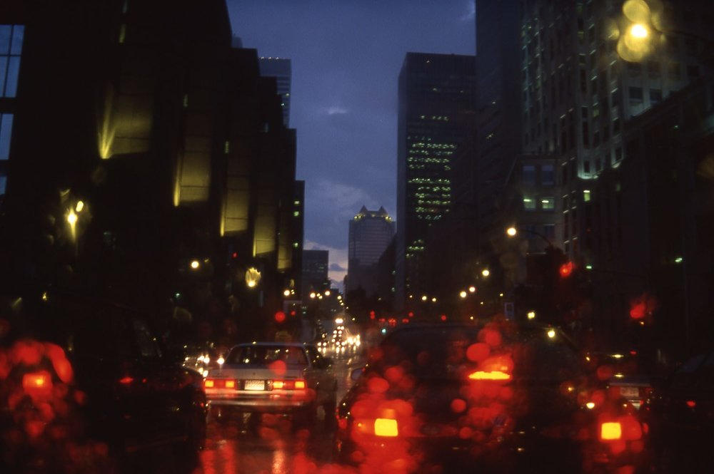 Montreal | Storm Sainte-Catherine street | Orage rue Sainte-Catherine | photo sandrine cohen