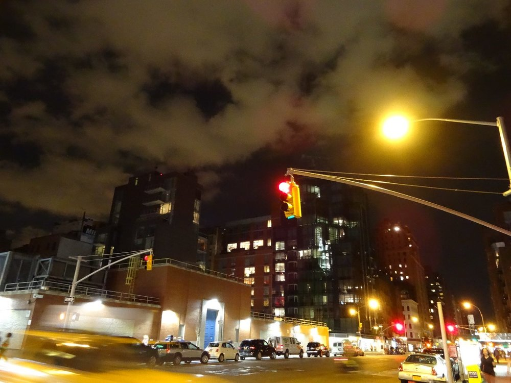 New York | Traffic on 9th avenue at night | photo sandrine cohen