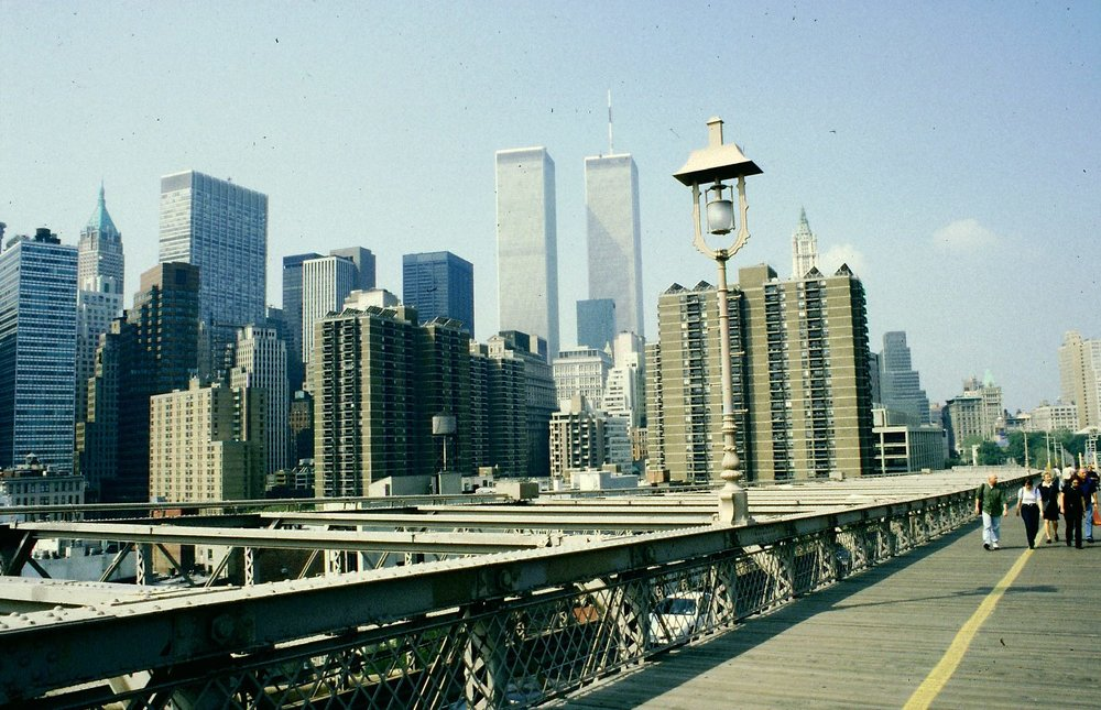 Brooklyn bridge | World Trade Center | Twins tower 1998 | New-York | ©sandrine cohen