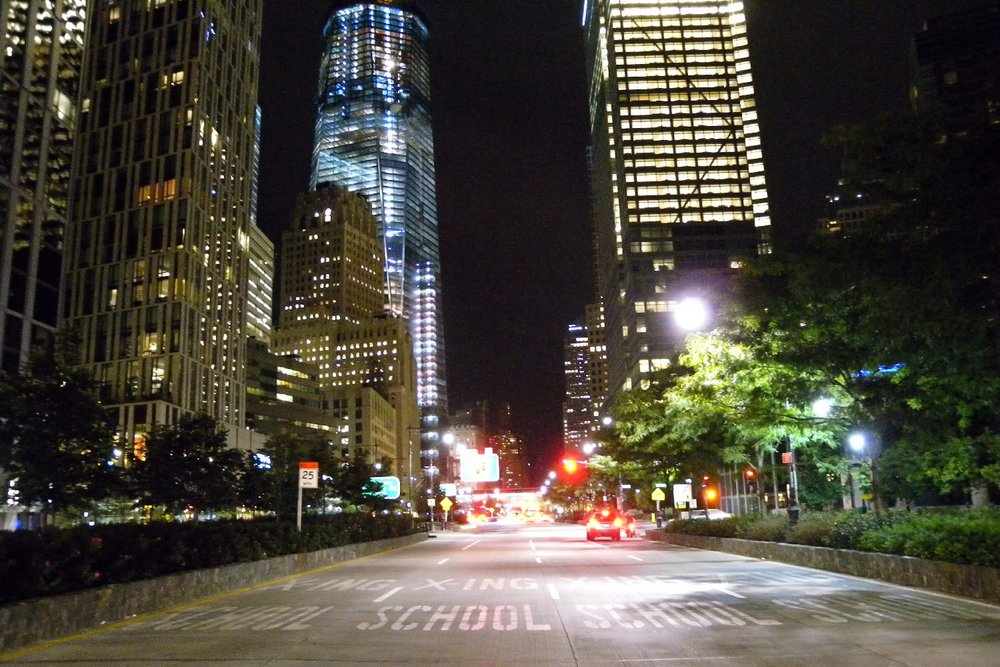 New York | Tribeca at night | Chambers and Liberty Tower | photo sandrine cohen
