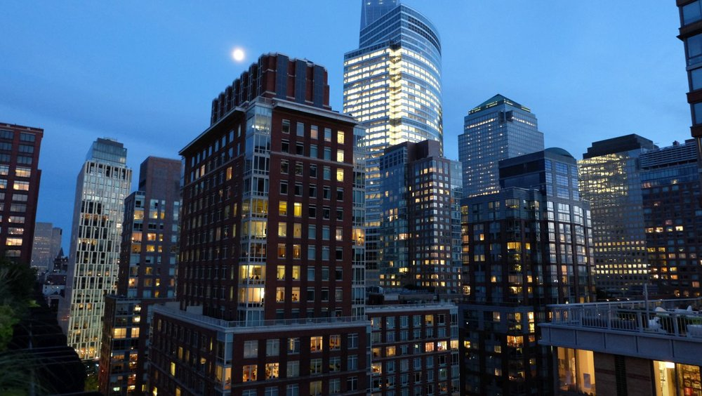 New York | Tribeca buildings at evening | Liberty tower | photo sandrine cohen