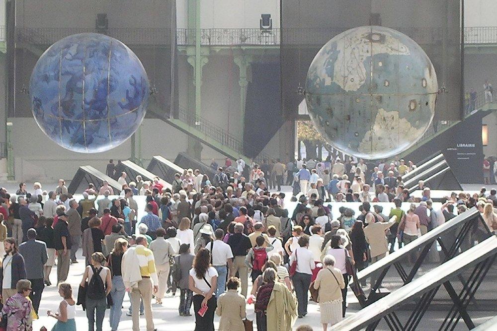 Le Grand Palais 2005 | Globes de Coronelli | Globes de Marly | photo sandrine cohen