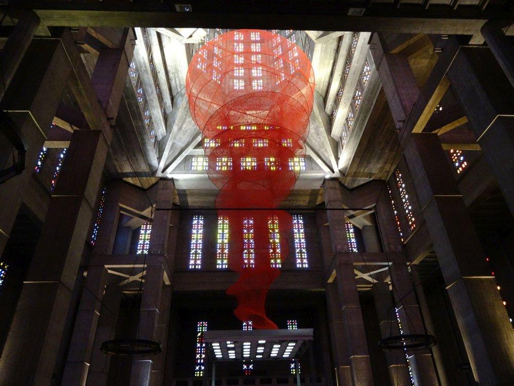 Chiharu Shiota | Le Havre | Eglise Saint-Joseph | photo sandrine cohen