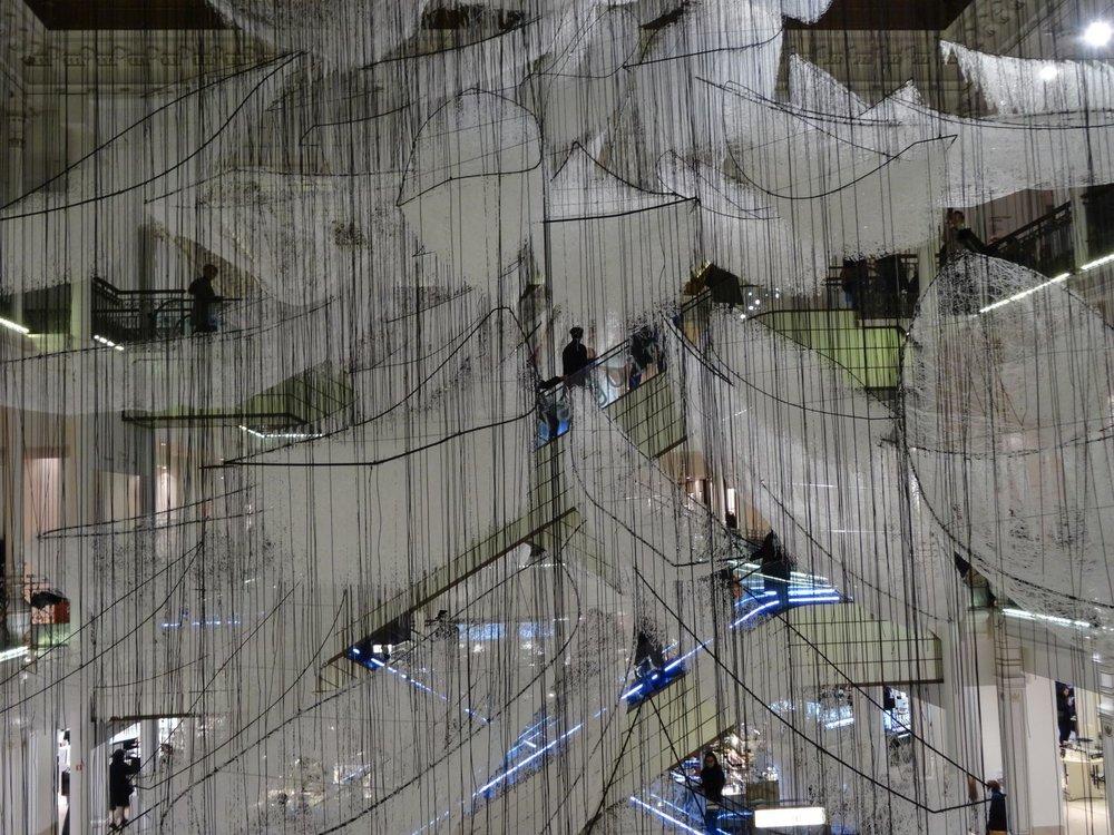 Le Bon Marché Paris | Chiharu Shiota | Where are we going | photo sandrine cohen