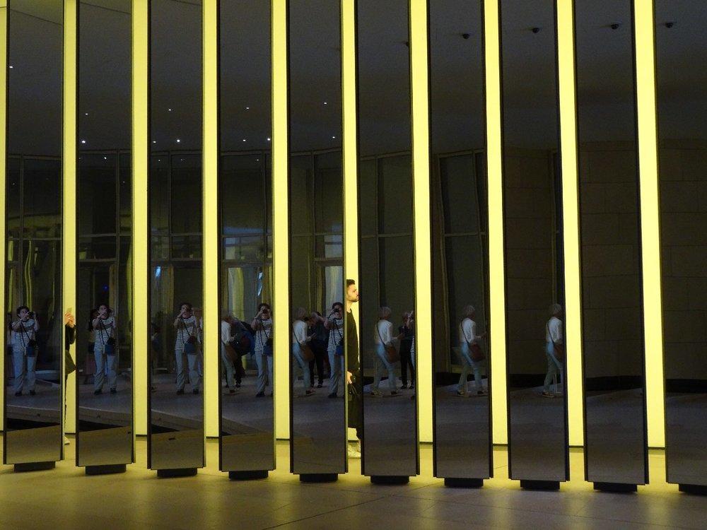 Fondation Vuitton Paris | Mirror | Inside the Horizon 2 | Olafur Eliasson | Yellow Grotto | photo sandrine cohen