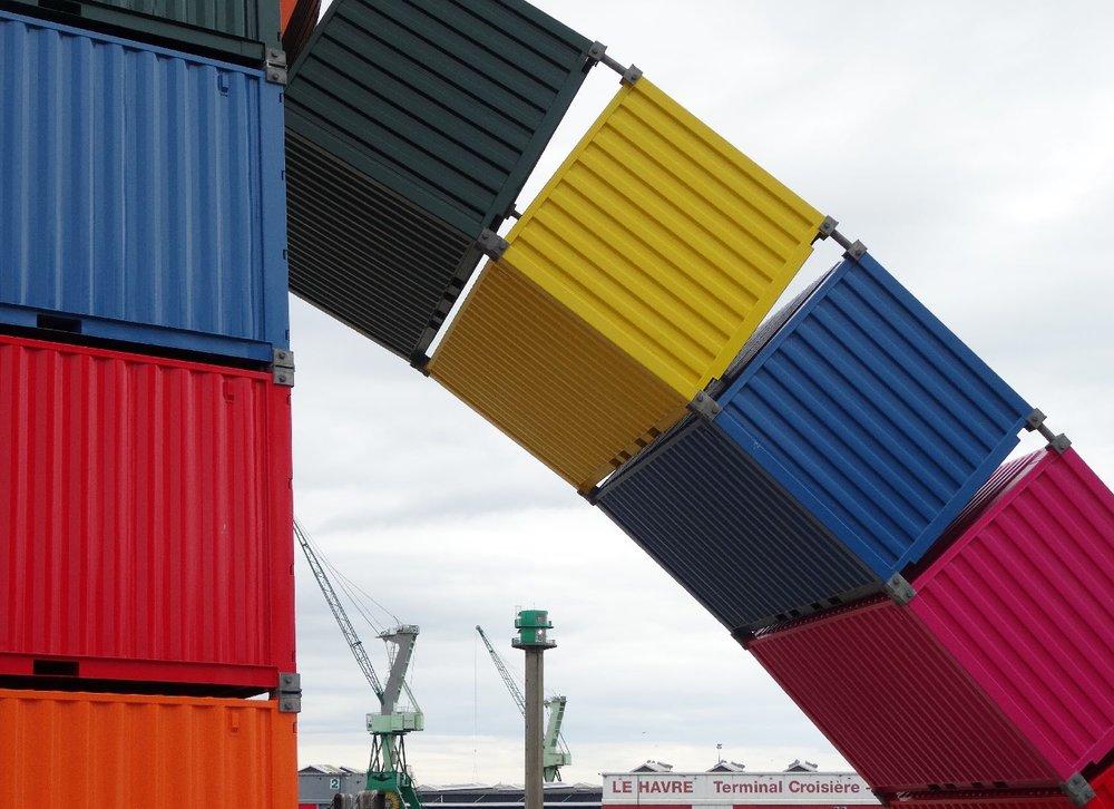 Les containers de Vincent Ganivet | Port du Havre | Un été au Havre | Le Havre | photo sandrine cohen