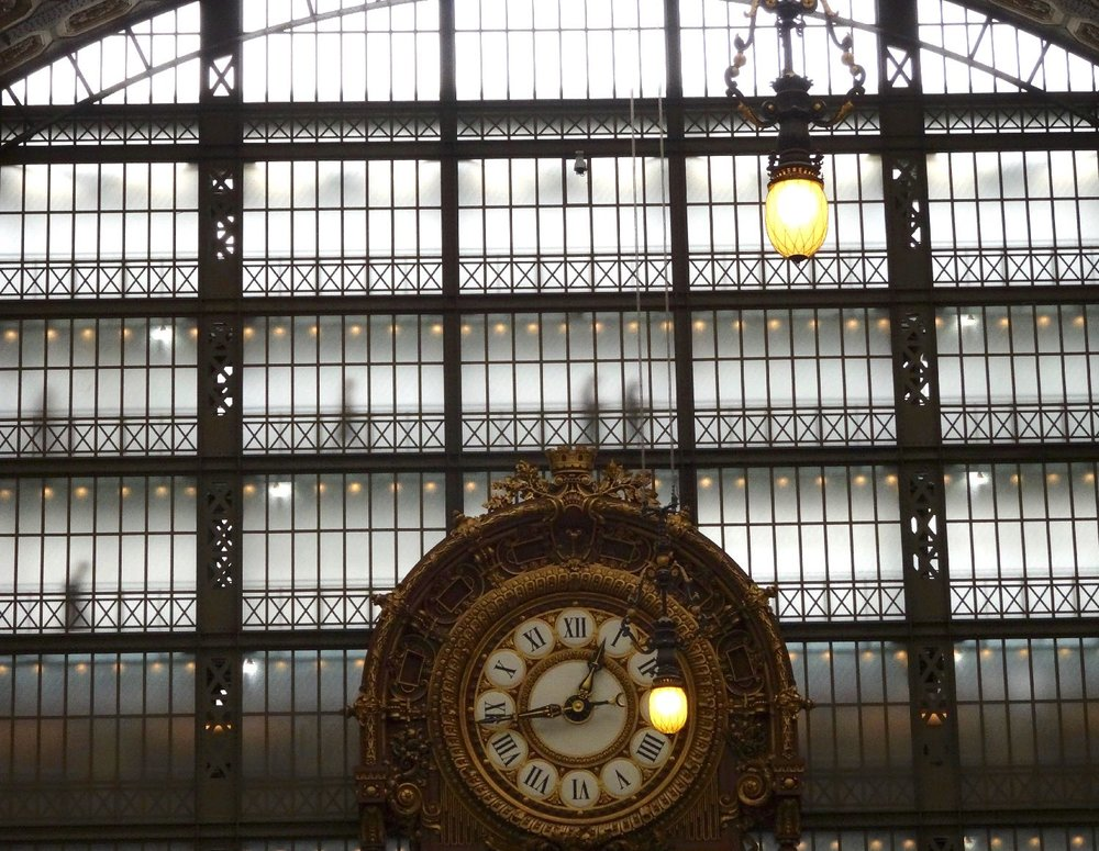Musée d'Orsay | Paris | Shadows and clock | photo sandrine cohen