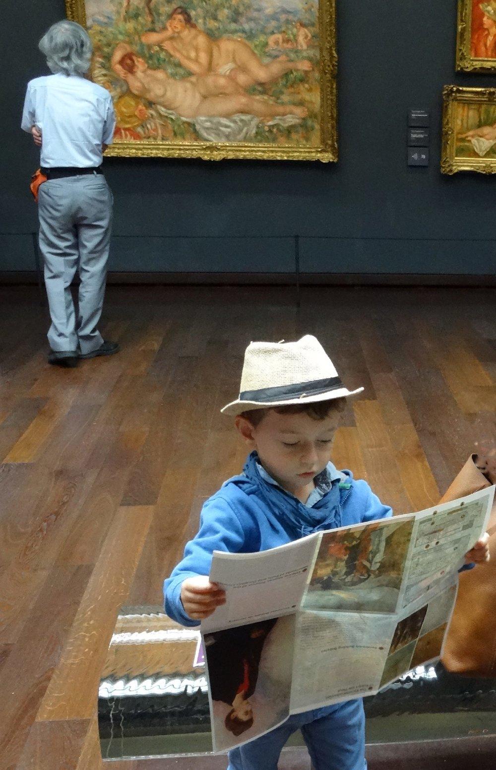 L'enfant au chapeau et le nu | Musée d'Orsay Paris | photo sandrine cohen