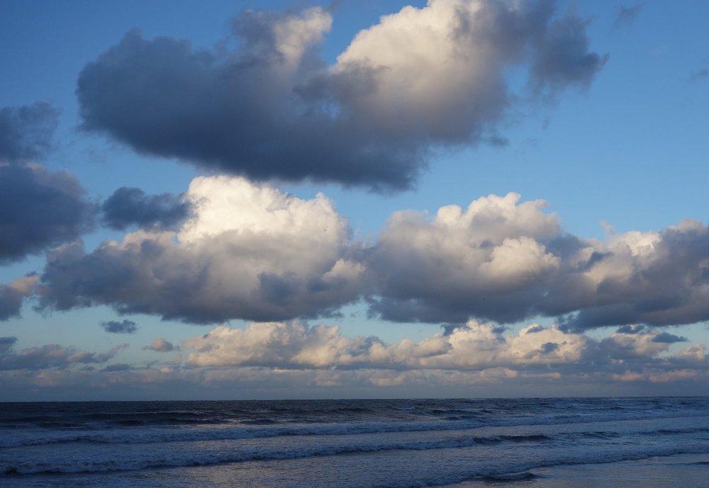 Basque coast | France | Clouds on the ocean | photo sandrine cohen