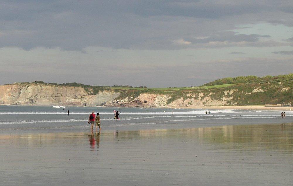 Hendaye Beach | Basque coast and landscape | Low tide | photo sandrine cohen