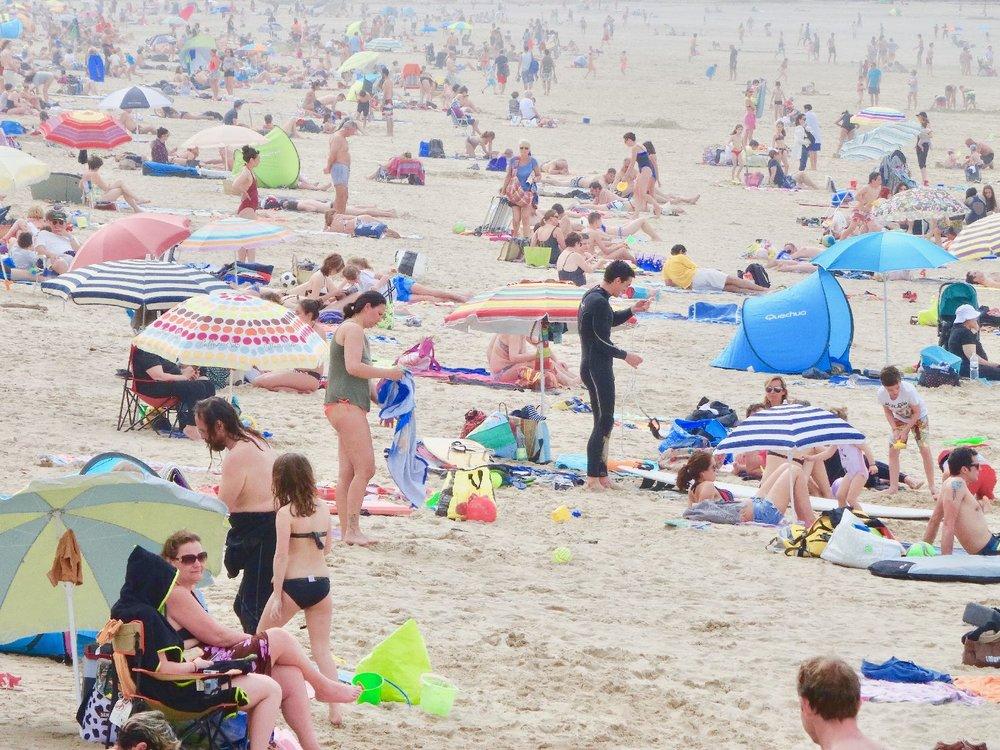 Effet de couleurs sur la plage | photo sandrine cohen