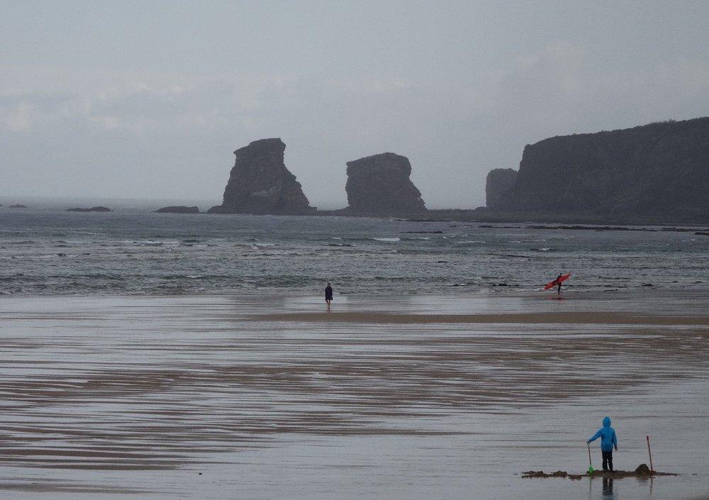 Rain on the beach | Hendaye Plage | Les deux jumeaux | Photo sandrine cohen