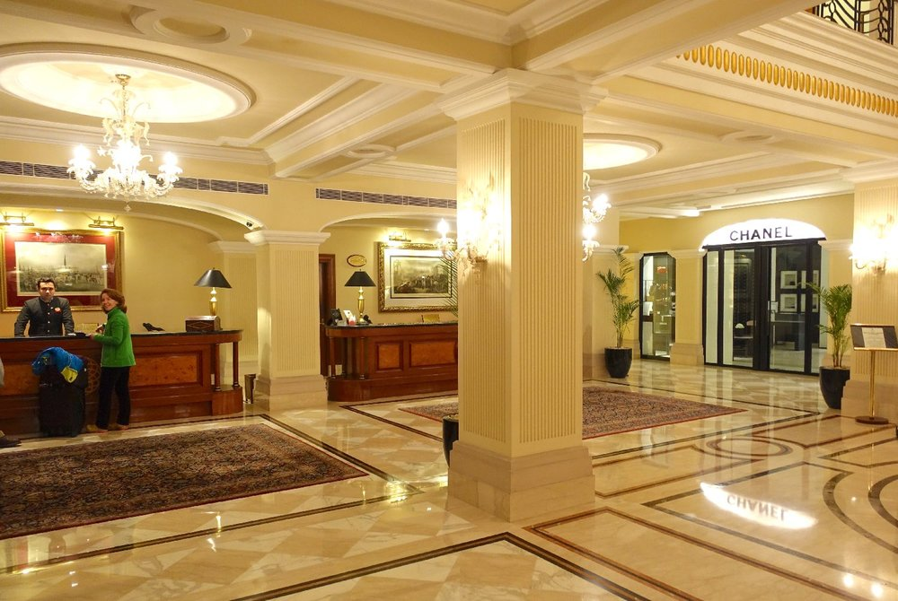 New Delhi | The Imperial Hotel | The Imperial New Delhi | Reception with marble | Taj group | ©sandrine cohen