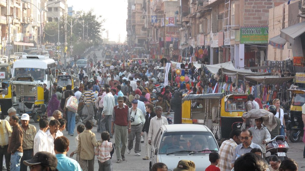Jodphur 34 | Blue city | Rajasthan | traffic and crowd in Jodphur | ©sandrine cohen