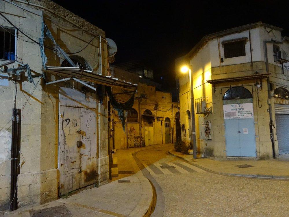Jaffa | Street at night with lights | Photo sandrine cohen