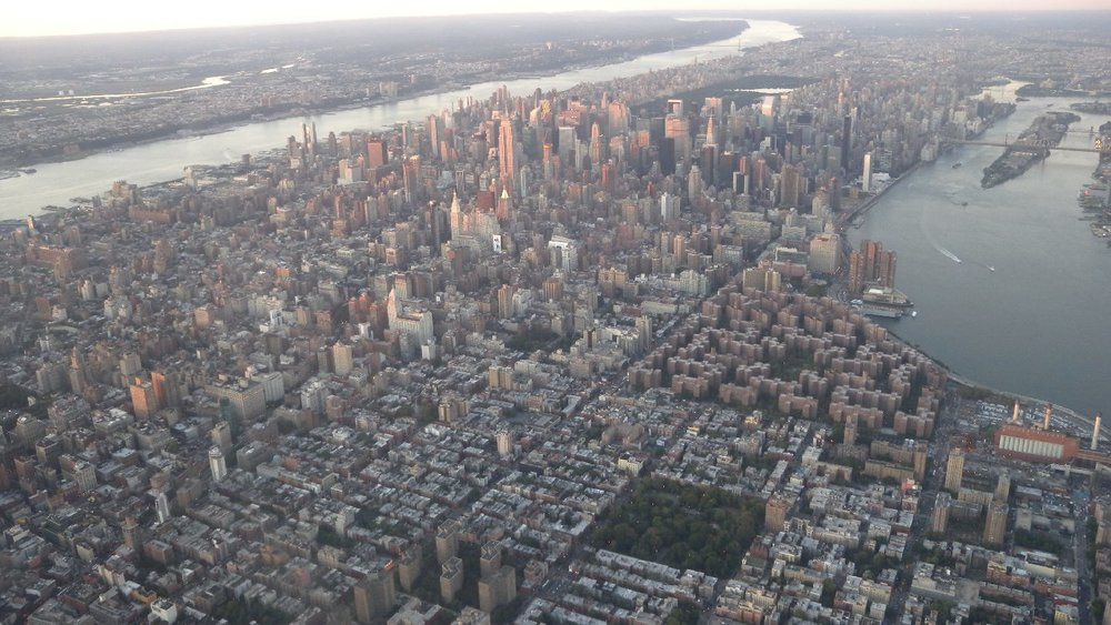New York view by plane | Sunrise on New York | photo sandrine cohen
