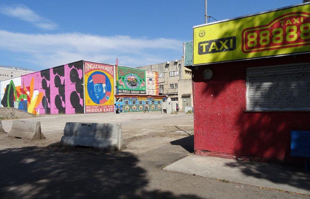 Haifa port | Street art railways station Haifa 4 | Taxi station | photo sandrine cohen