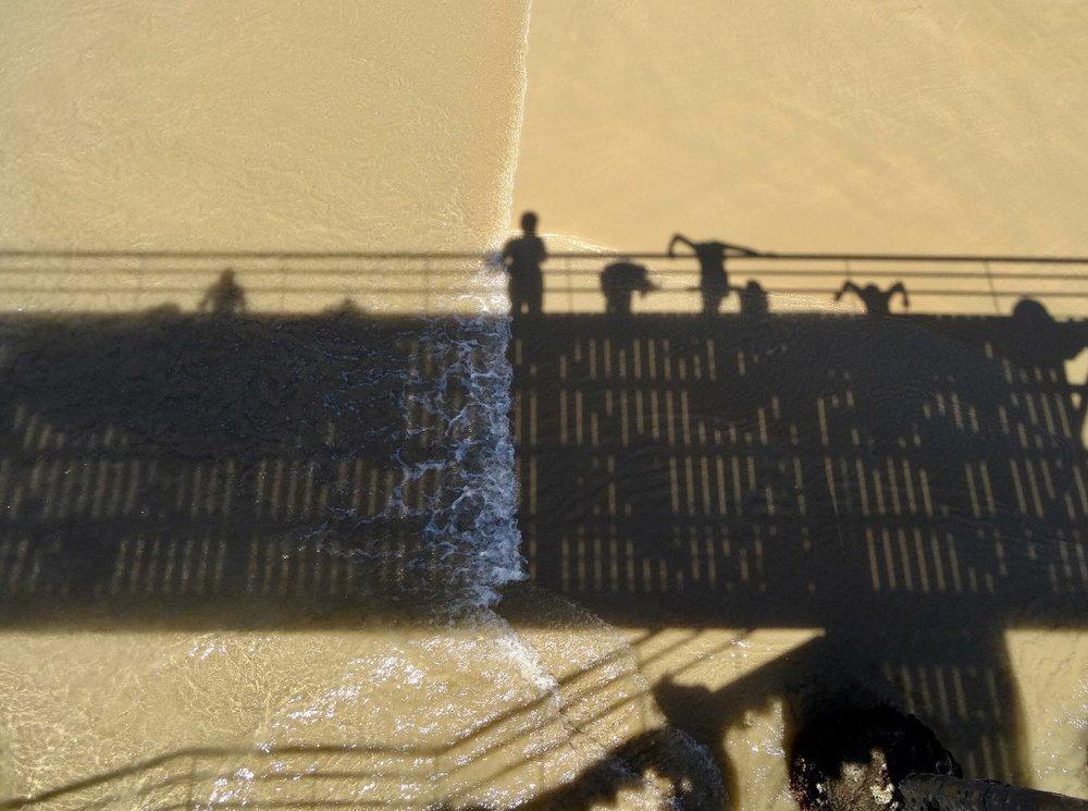 San Sebastian | Donostia | Basque country | Shadows on the beach | photo sandrine cohen