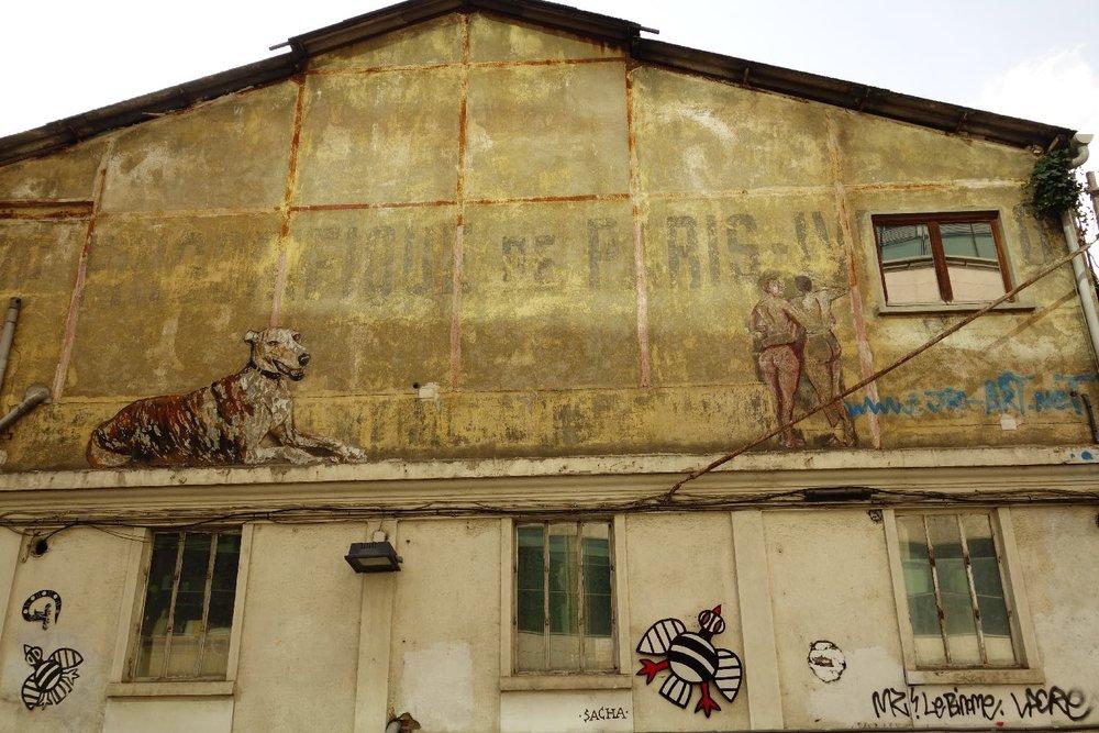 JR artist | Les Frigos | Street art place |Paris 13e | ©sandrine cohen