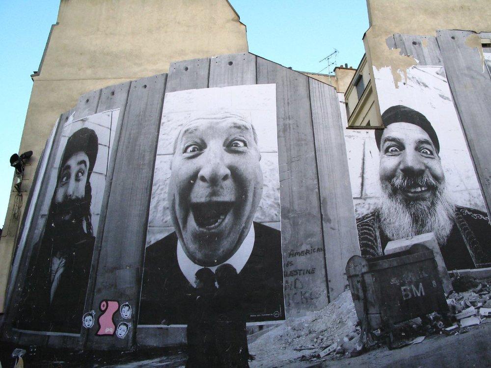 JR artist | Face 2 Face | Portraits of Palestinans and Israelis |Paris 2007 | ©sandrine cohen
