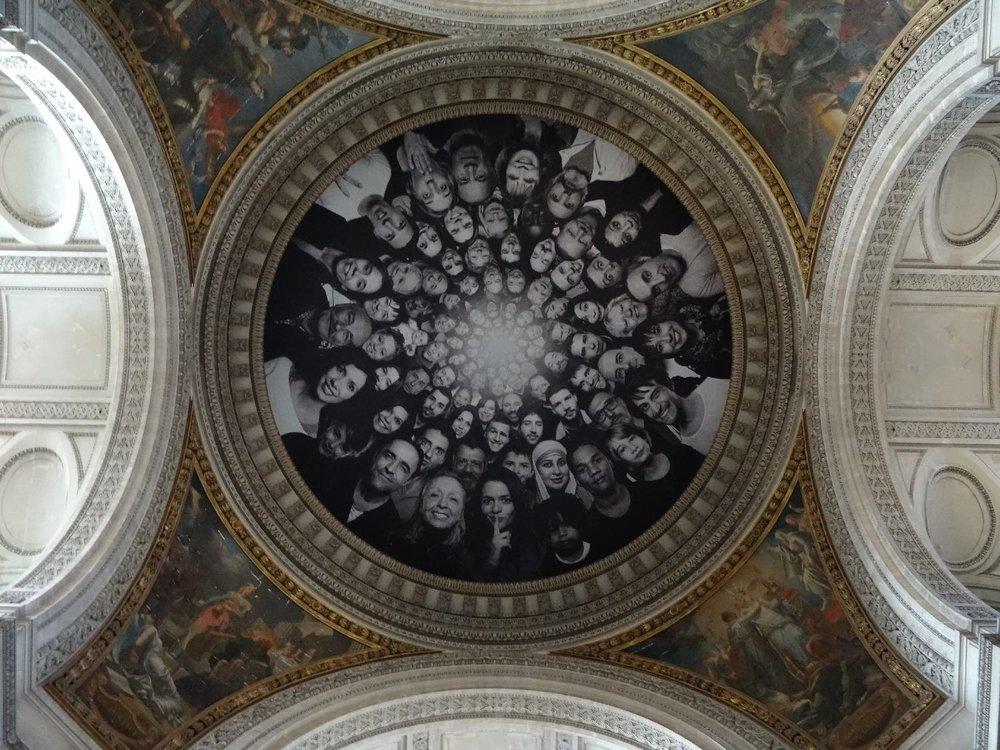 JR artist | Pantheon | Paris 2014 | ©sandrine cohen