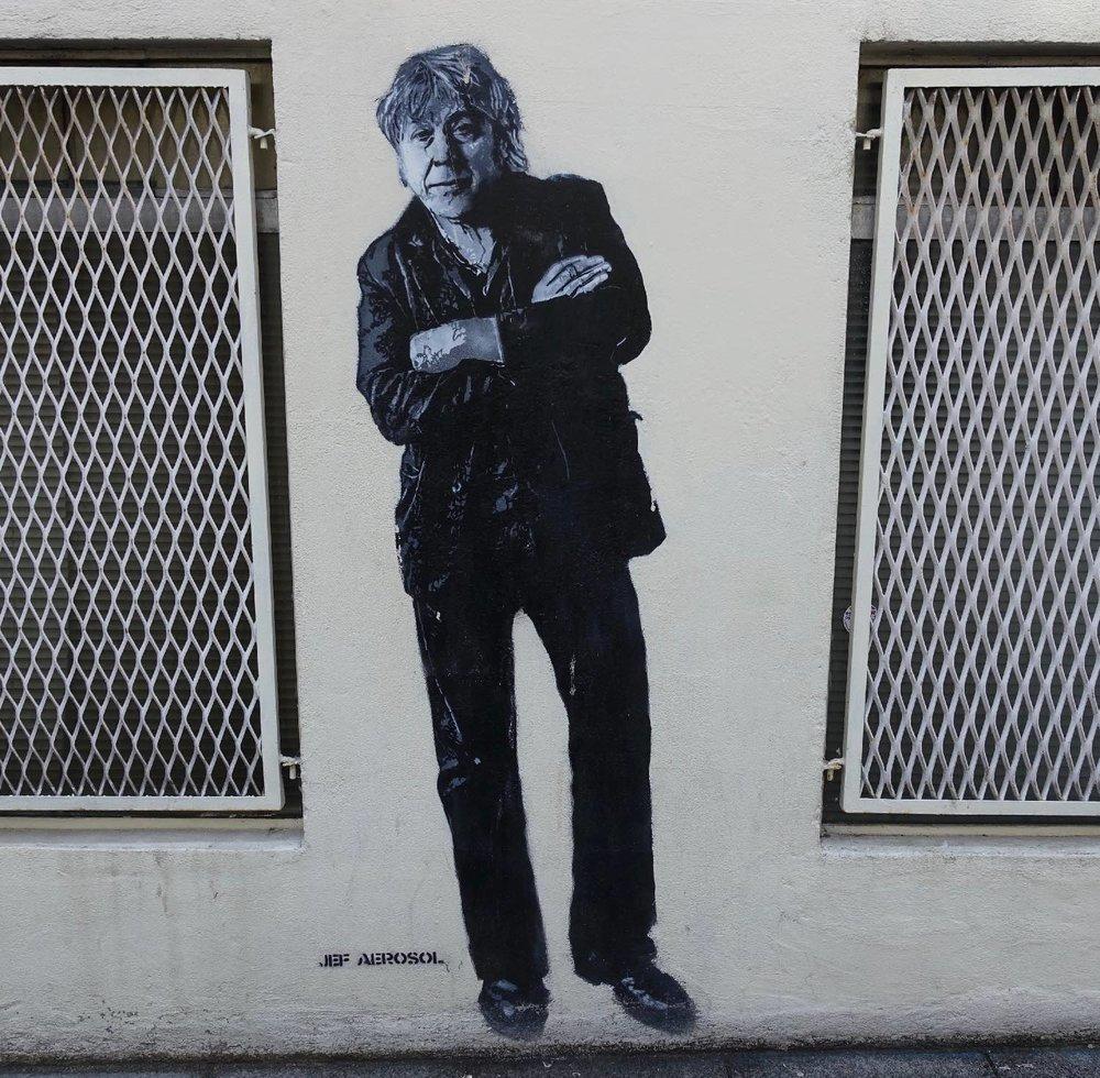 Jef Aerosol |Artist street art |Arno |chanteur belge |Paris 13e |©sandrine cohen